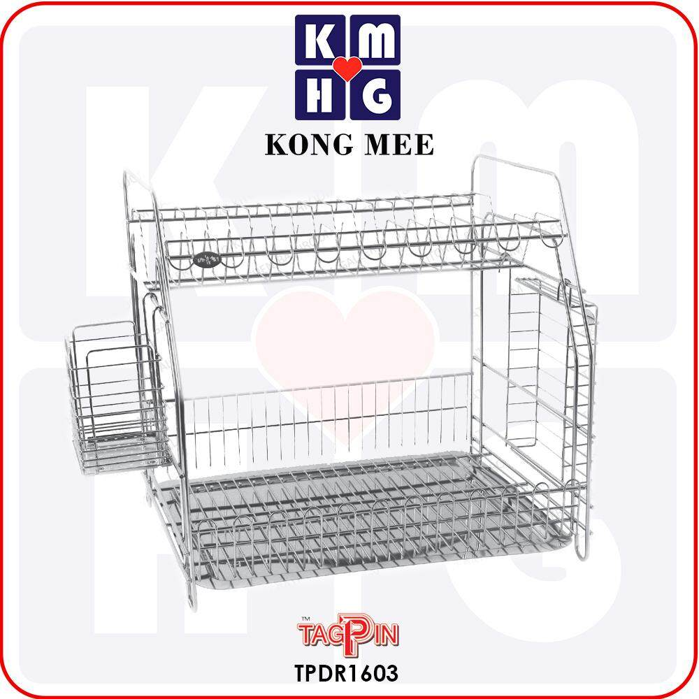 Tagpin - High Quality Stainless Steel 304 Dish Rack with FREE GIFT (TPDR1603)  Premium Drying Dishes Cooking Accessories Dapur Masak Makan Rak Kering Pinggan Kitchen Basin Basket Home Living FIxtures Furniture Cook Chef Wash Dishes Luxury