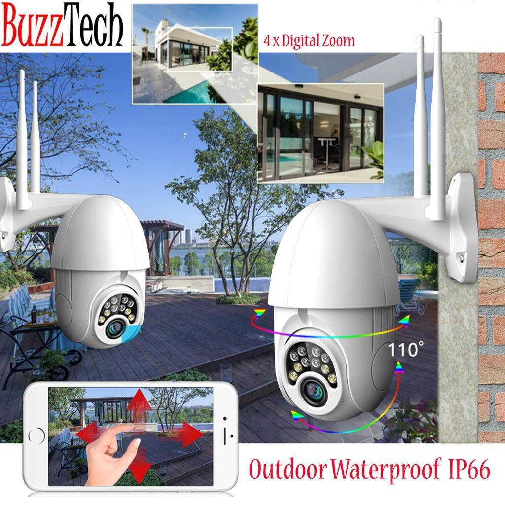 BUZZTECH HD 1080P Dual Antenna Wifi PTZ IP Camera Outdoor Color Night Vision Wireless Outdoor CCTV Camera
