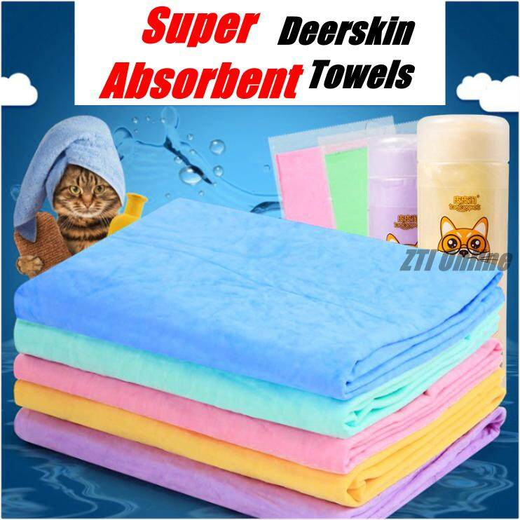 Pet Dog Cat Bath Towel Strong Super Absorbent with Bucket