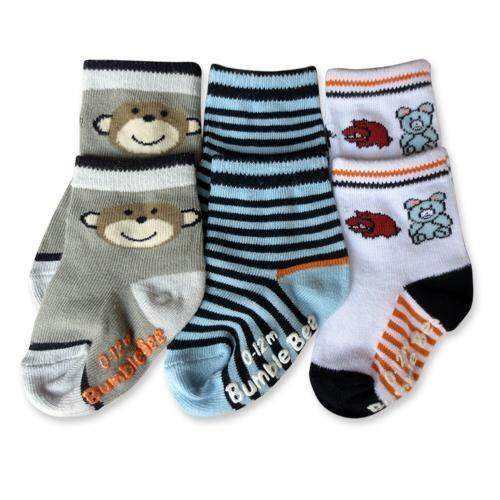 Bumble Bee 3 Pair Pack Animal Socks (S0083L)