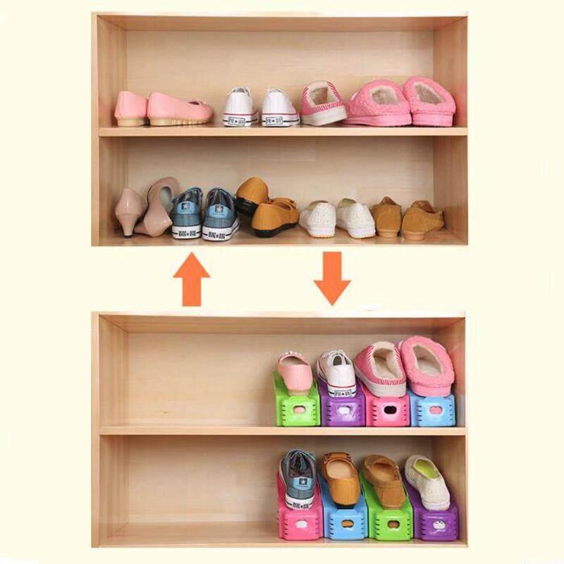 CNY Trang Trí 5 Chiếc Giày Giá Đỡ (Xanh Dương, Đỏ Hồng, Tím, Đen) dễ Dàng Giày Người Tổ Chức Giày Khe Tiết Kiệm Không Gian Giá Để Lưu Trữ Giá Đỡ