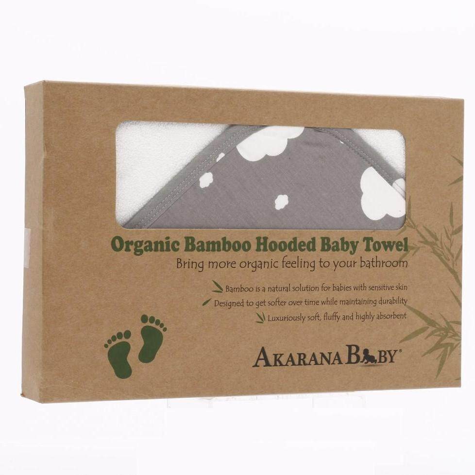 Akarana Baby Organic Bamboo Hooded Towel (Cloud)