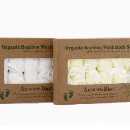 Best Quality And Value Organic Bamboo Washcloth Combo 12pcs (White & Yellow)