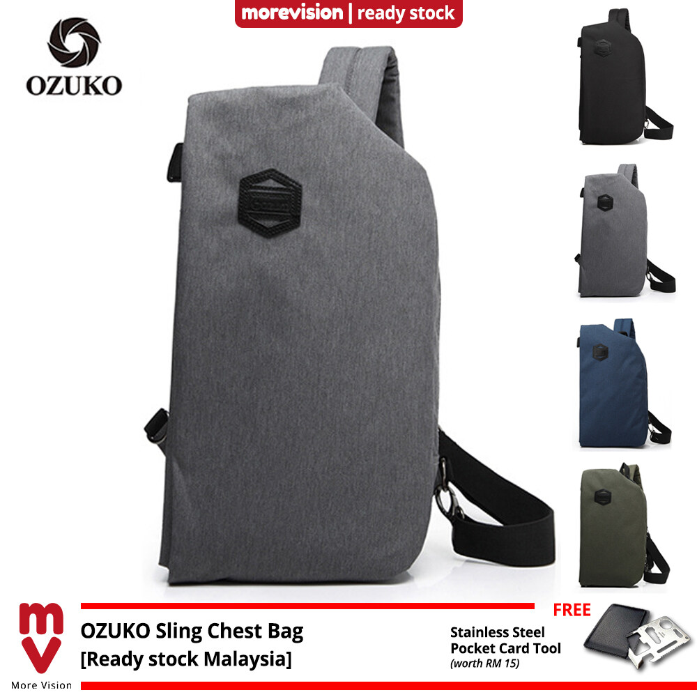 OZUKO Sling Chest Bag New Fasion Casual Outfit for Men Women Travel and Daily Use Crossbody Bag Shoulder Beg -MI5842