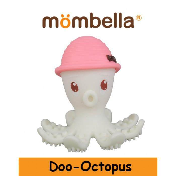 Sokano MOMBELLA Teether Toy Baby Teether Toy Rainbow Doo Octopus Apple Tree Cute Mushroom Spoon Squirrel Dancing Elephant Baby Hugging Monkey Silicone Toy Teether