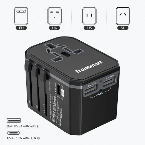 Tronsmart WCP05 33W Power Delivery PD Universal Travel Adapter With Quick Charge