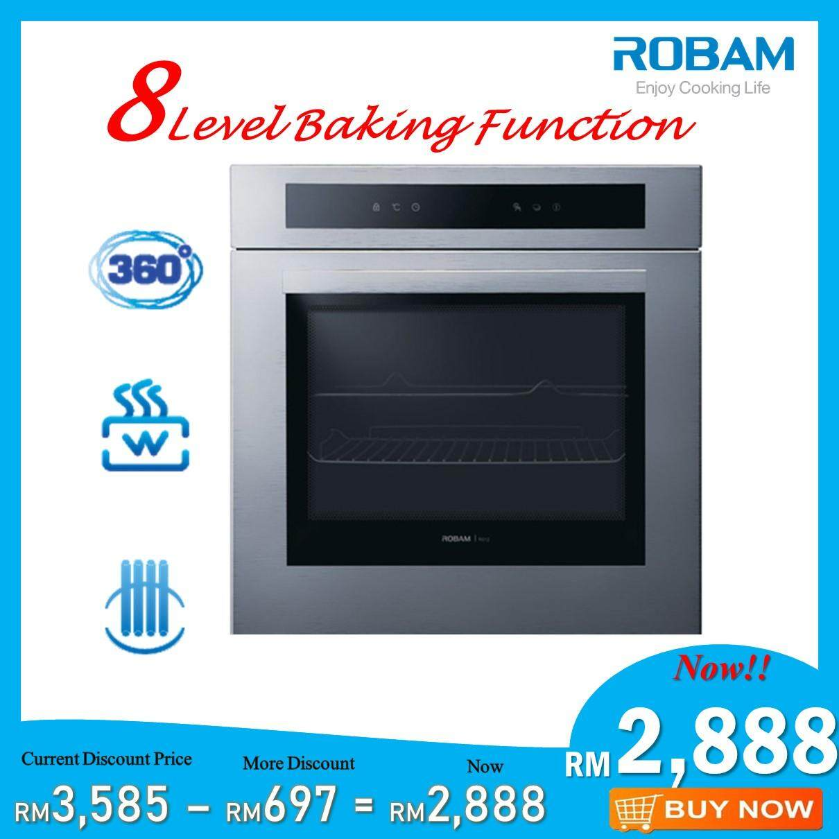 ROBAM R308 70L Built-In Oven with 8 Cooking Programmes