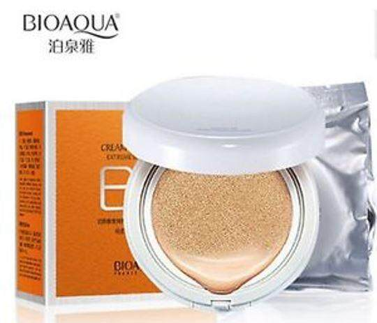 Bioaqua Snow BB Cream Air Cushion SPF50 Extreme Bare Make Up Complete Coverage Compact Foundation (NATURAL) 15g