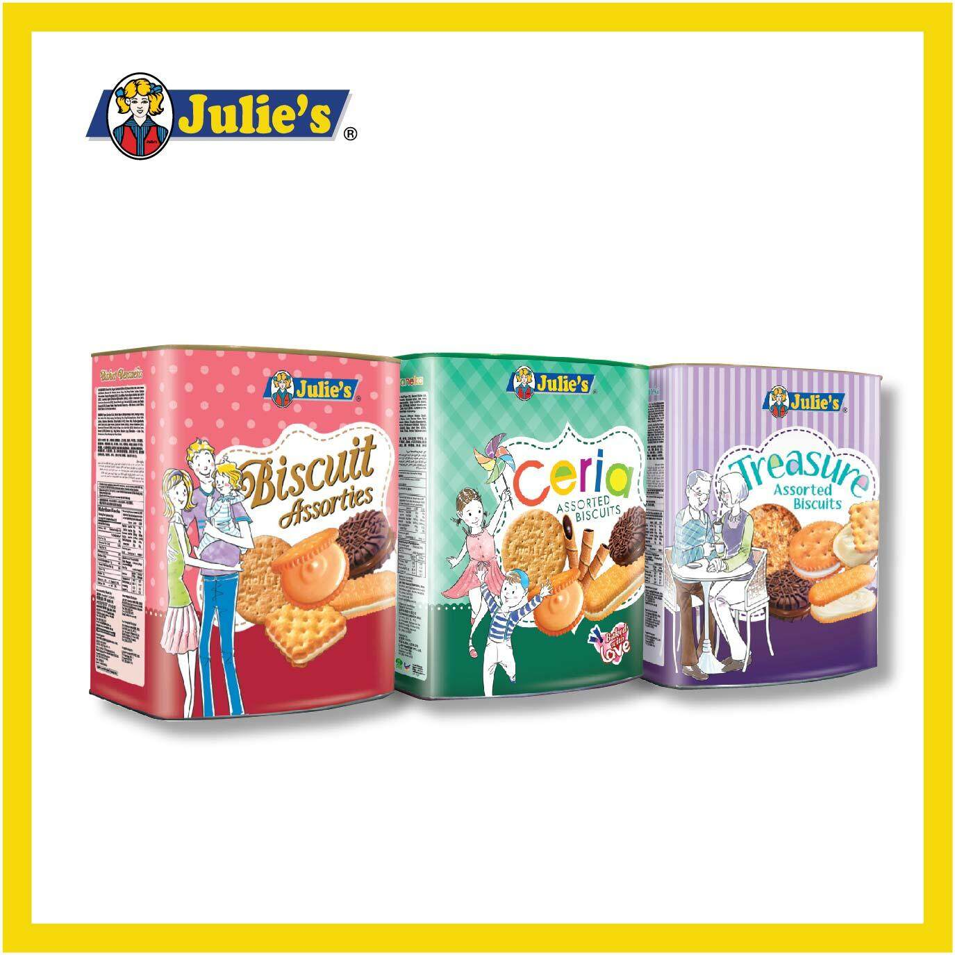 Julie's Assorted Biscuits Combo Tin + Free 1 Water Tumbler