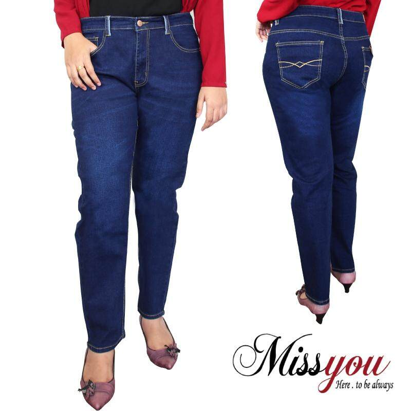 MISS YOU PLUS SIZE Regular Cut Denim 5 Pockets MYJ600004 (Navy)
