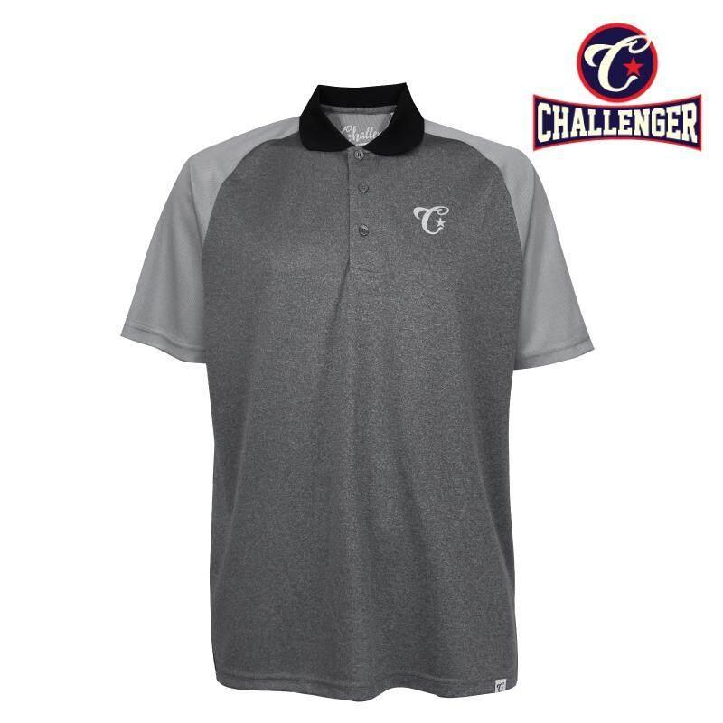 CHALLENGER BIG SIZE Cut & Sew Polo Raglan Tshirt CH2016 (Grey)