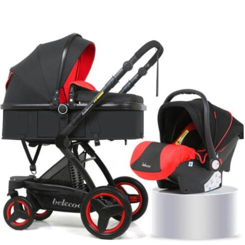 Demeis Belecoo Baby Stroller High-view Foldable Shockproof with Basket Singapore