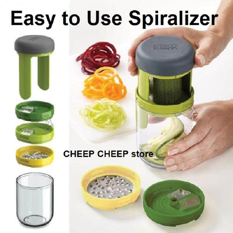 3 in 1 Handheld Spiralizer Vegetable Spiral Slicer Peeler Cutter Shredder Grater - MultiFunction Smart Easy to Use Space Saving Spiro for Vegetables Fruit Salad Cheese