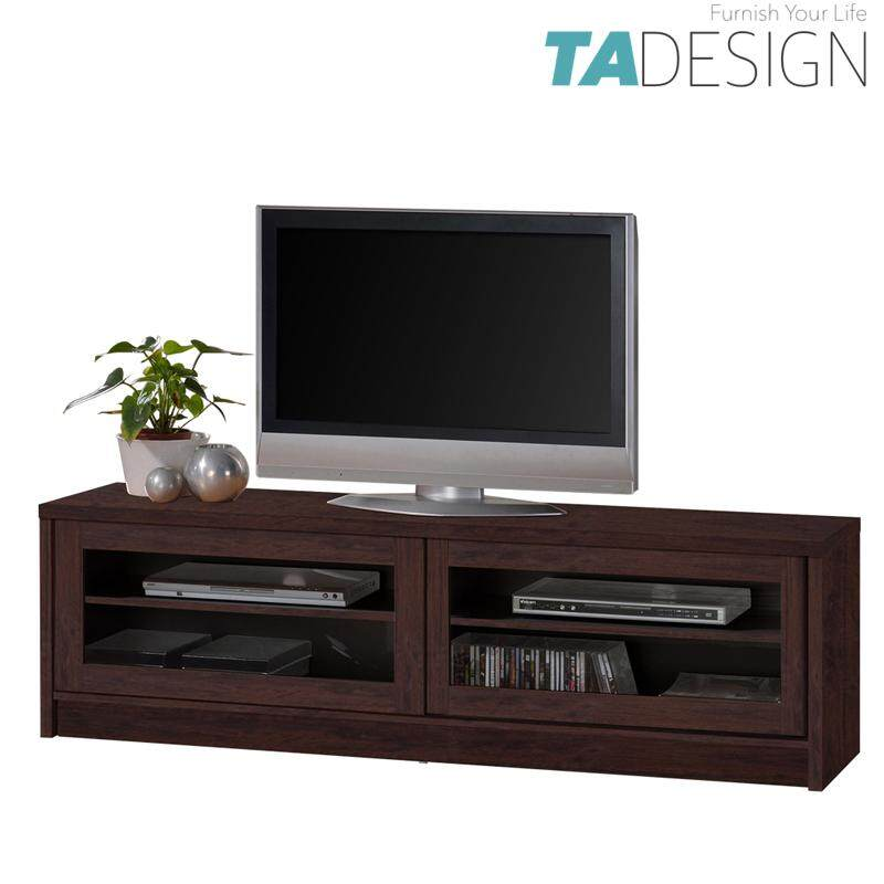 TAD XENA 6 feet tv cabinet 6ft with glass door