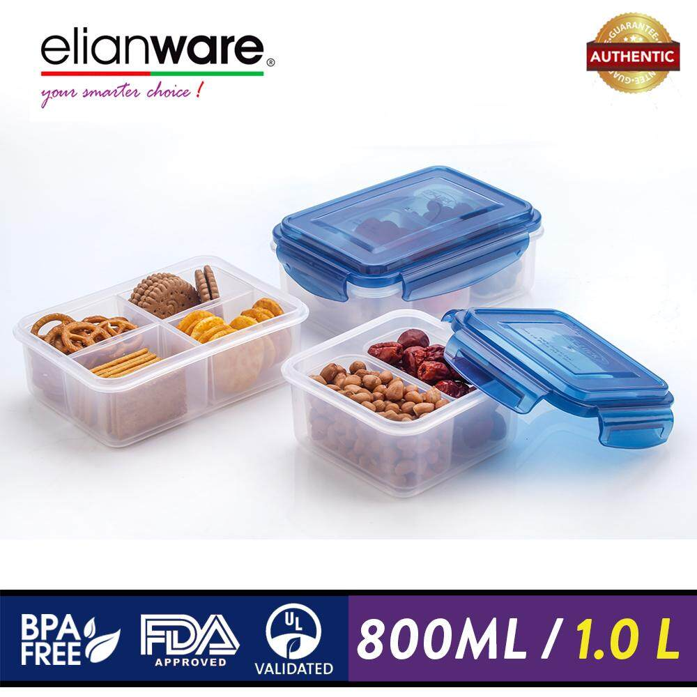 Elianware Ezy-Lock Compartments Microwavable 100% Airtight Food Containers