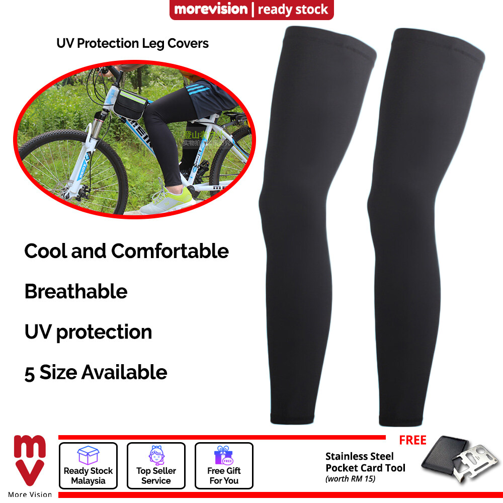 Breathable UV Protection Leg Covers Long Comfortable Knee Protector Tight for Men Women Unisex Sports Dance Cycling Gym - MI5982