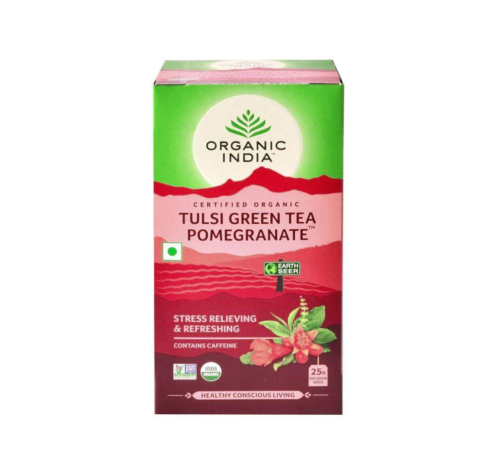 Organic India Certified Organic Tulsi Green Tea Pomegranate 2g x 25 Packs