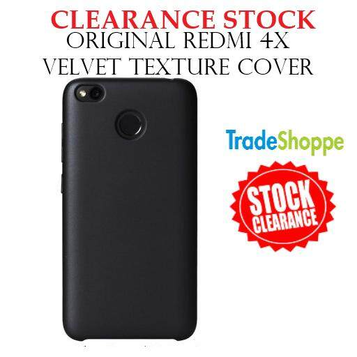 [CLEARANCE STOCK] Original Xiaomi Redmi 4X Velvet Texture Cover Protection Cover For Redmi 4X Back Cover