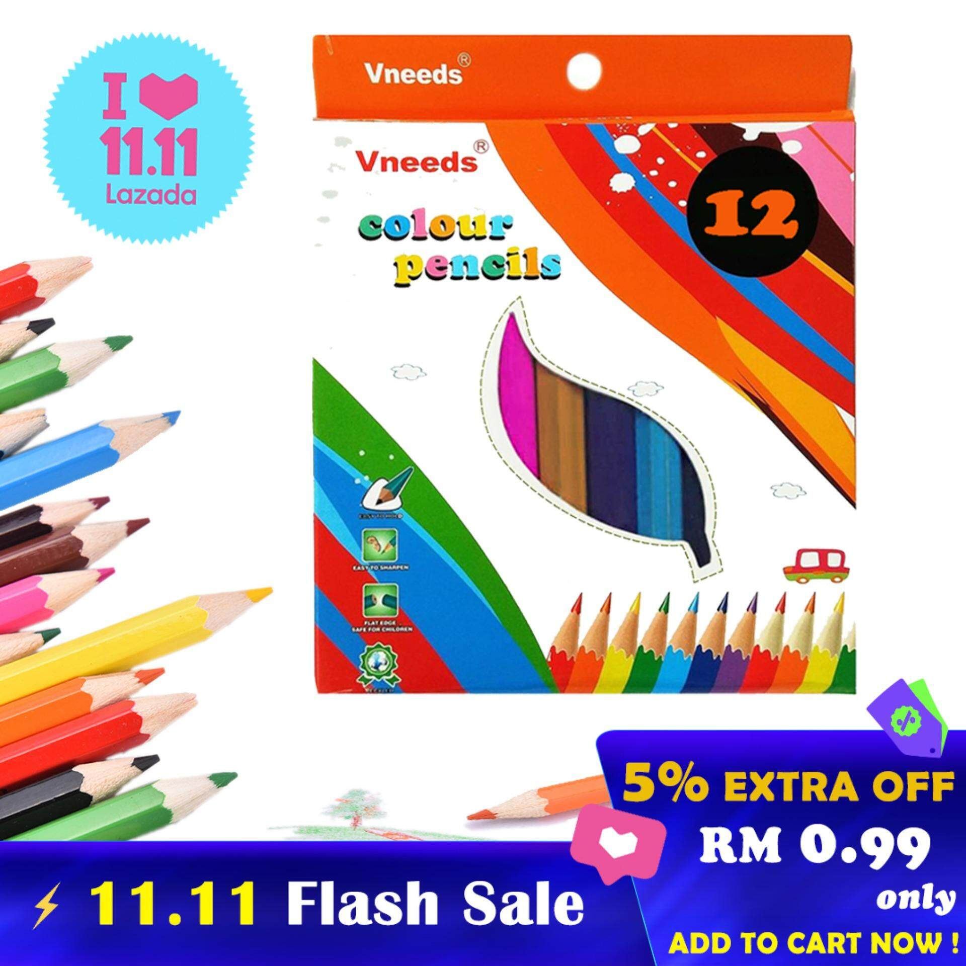 Vneeds Coloring Fun Colored Pencils 12 pcs