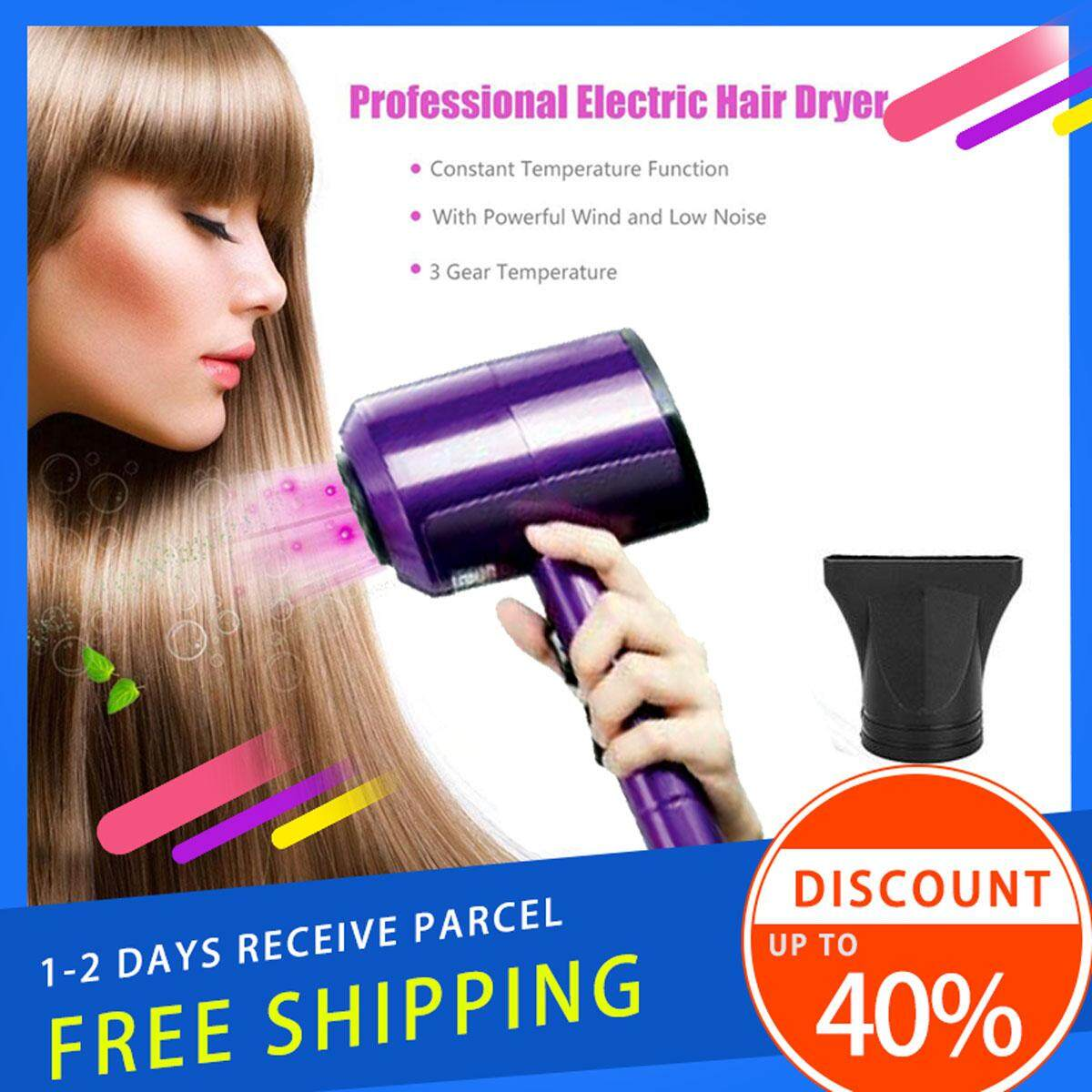 Delly Professional Portable 2000w Hair Dryer Hydration Negative Ion High Power Xl-6666W