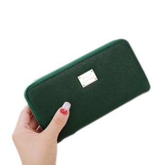 Amart PU Leather Wallet Women Clutch Bag Long Purses Zipper Female Coin Purse Card Holder