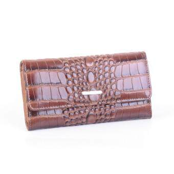 AR By Alfio Raldo AA-0148 Long Purse (Croco Brown)