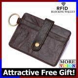 [Attractive Free Gift!] Genuine DKER Cowhide Leather Men RFID Blocking Wallet Card Pouch D3022 MI0652