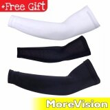 [Attractive Free Gift!] ROBESBON Bicycle UV Protection Cycling Arm Sleeve Covers - Black - RB0011