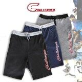 CHALLENGER BIG SIZE French Terry Track Bottom Shorts CH5021 (Black)