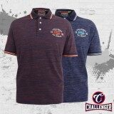 CHALLENGER BIG SIZE Polo T-Shirt with Print & Emblem CH2013 (Purple)