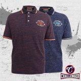 CHALLENGER BIG SIZE Polo T-Shirt with Print & Emblem CH2013 (Purple)