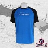 CHALLENGER BIG SIZE Round Neck Short Sleeves Jersey T-Shirt CH1014 (Blue)