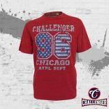 CHALLENGER BIG SIZE Round Neck T-Shirt CH1016 (Red)