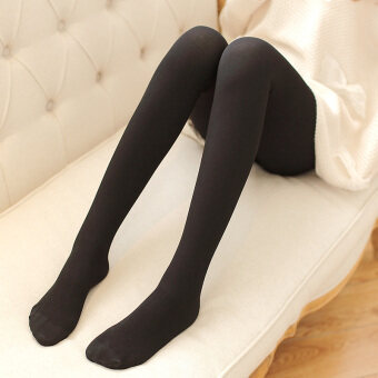 Cotton gray spring and autumn slimming stockings pantyhose (Black tights) (Black tights)