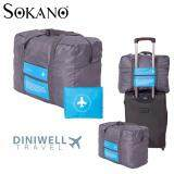 Diniwell Luggage Bagasi Folding Bag Large Capacity Organizer Foldable Bag Blue
