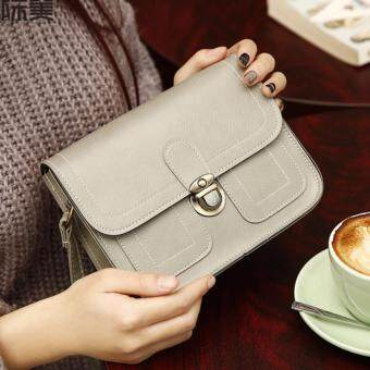 Fashion Korean Trendy Women Ladies Female Teenage All Match High Quality Small Mini PU Leather Cross-body Sling Shopping Bag (Gold)