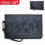 Fashion MEN Premium Durable Casual Purse Wallet Pouch Clutch Bag Multipurpose 148 (Color: Camo Blue) MI1482