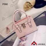 Fashionable Mini Handbag with Metal plating (Pink)