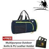 Free Knight 35L Foldable and Waterproof Duffle Travel Bag Dark Blue