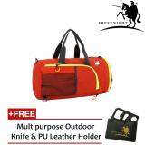 Free Knight 35L Foldable and Waterproof Duffle Travel Bag Orange