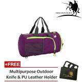 Free Knight 35L Foldable and Waterproof Duffle Travel Bag Purple