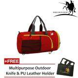 Free Knight 35L Foldable and Waterproof Duffle Travel Bag Red
