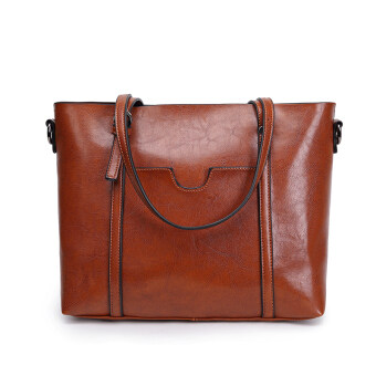 Jianyue women's large capacity handbag large bag (Brown [Collection product to send clutch bag card holder])