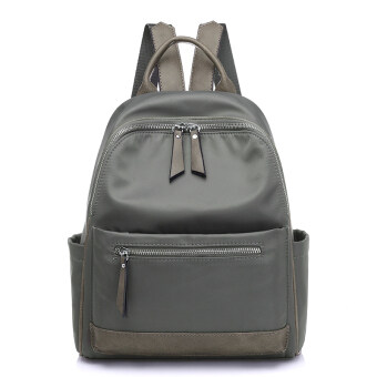 Korean-style female New style backpack Oxford Cloth shoulder bag (Gray)