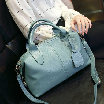 Korean-style female New style shoulder large bag (Light blue [Collection baby to send clutch bag])