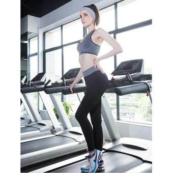 LALANG Women Elastic Waist Leggings Stretch Fitness Workout Sports Pants Trousers (Black)