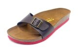 SoleSimple Lyon - Brown / Casual Soft Footbed Flat Slippers & Comfortable Shoes & Sandal Shoe