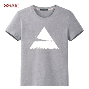 Men's t-shirt short sleeve t-shirt summer casual korean version of the trend of young students of the new 2017 male cotton shirt (Ash t (impact))