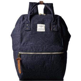 [Original Authentic] Anello JAPAN Mouthpiece Denim Backpack Bag AT-B0935 (Denim/Navy)