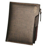 Pabojoe Premium Men Wallet Genuine Leather Wallet Vertical + Free